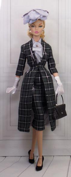 Classic Suit for Gene and Friends Barbie Fashion Royalty, Fashion Dolls, Retro Fashion, Barbie Wardrobe, Classic Suit, Barbie Patterns, Barbie Collection, Leather Dresses, Barbie World