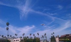 Space Shuttle Endeavor flying over Leo Politi Elementary School  Photo credit: Lorenza Yarnes