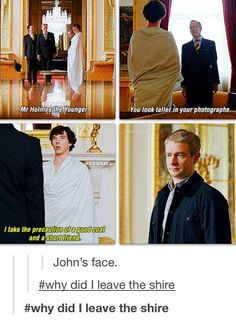 "While this is funny I wonder if anyone else noticed that in the first episode Sherlock once said ""I don't have any friends"" and he just now in this scene called John his friend"