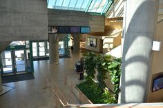 The Main Lobby of the Santa Clara Convention Center is bright and inviting.