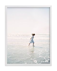 """""""Dreams + Waves"""" - Art Print by Jenni Kupelian in beautiful frame options and a variety of sizes."""