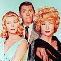 Bewitched (1964–1972) - Cast and history: http://www.imdb.com/title/tt0057733/  Theme music: http://www.youtube.com/watch?v=ZaMHhP5bG7k