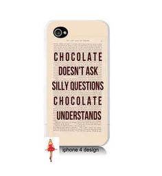 Chocolate Understand 4 case Iphone case Iphone 4s by IPhone4Design, $16.99