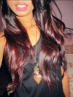 Red, Brown hair. (Ombre)