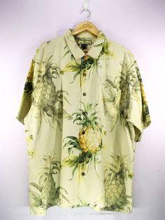 83a6ecf3 Tommy Bahama Silk Vintage Leaf Floral Rockability Pattern Abstract Hawaiian  Shirt Buttons Up Hawaii Surf Beach Wear Size XL