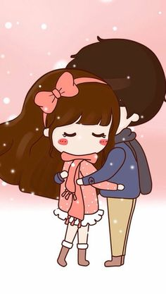 New wallpaper couple cartoon ideas Love Cartoon Couple, Chibi Couple, Cute Couple Drawings, Cute Drawings, Anime Chibi, Kawaii Anime, Cute Couple Wallpaper, Cute Love Stories, Cute Love Gif