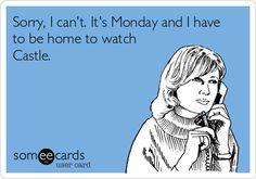 Castle tv show Best Tv Shows, Best Shows Ever, Favorite Tv Shows, Watch Castle, Castle Quotes, Castle Tv Shows, Castle Beckett, Stana Katic, E Cards