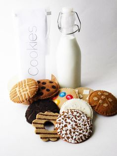 Felt Food Cookie Assortment your choice in flavors by thatgirl99, $13.50