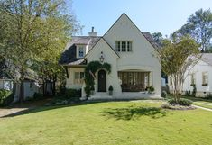 New Construction — Slate Barganier Building White Stucco House, Stucco And Stone Exterior, Stucco Homes, Cottage Design, Cottage Style, House Design, Colonial Cottage, Cottage Homes, George House