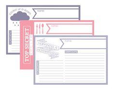 Fontaholic: FREEBIE FRIDAY: Recipe Cards