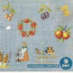 Vintage Mini Cross Stitch designs by DMC.