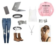 """""""Netflixing"""" by eclipse188 ❤ liked on Polyvore featuring ONLY, Frame Denim, David Yurman, King Baby Studio, Michael Kors, France Luxe, Case-Mate and Speck"""