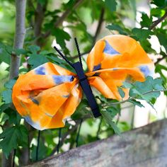 Kids of all ages will enjoy making a clothespin and watercolor monarch butterfly to celebrate the monarch's late summer migration to Central Mexico.