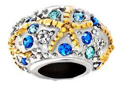 #charmbracelets #charms #jewelry #jewellery #pandora #pandorabracelet #seastar #beach #summer #ocean  Pugster Lovely Starfish Colorful Crystal Birthstone Europeans Fit All Brands Beads Charms Bracelets  $16.49