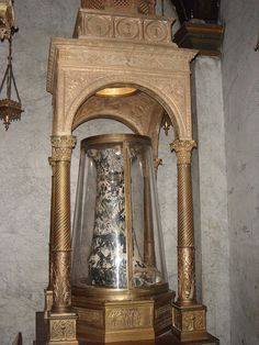 This is where Jesus was tied while he was flogged during his passion. It is kept at the Basilica of Saint Praxedes in Rome, Italy Lalupa, Wikipedia