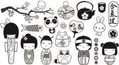 Pin by ❀ Eyko ❀ on Tattoos Shrink Paper, Shrink Art, Plastic Fou, Shrink Plastic, Adult Coloring, Coloring Pages, Doodles, Kokeshi Dolls, Matryoshka Doll