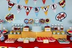 "Photo 19 of 20: Superheros / Baby Shower/Sip & See ""Super Hero Baby Shower"" 