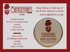 Our American Pomade provides excellent hold for short, fine or normal hair. £11.95. Available today at #TGB. http://wu.to/Uu2WFf #London #Barbers