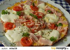 Obložená bramborová omeleta recept - TopRecepty.cz