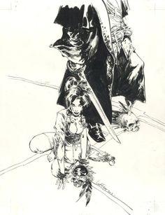 Long John Silver - Mathieu Lauffray / Couverture par Mathieu Lauffray - Oeuvre originale http://en.2dgalleries.com/art/long-john-silver-mathieu-lauffray-couverture-17092