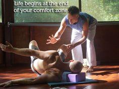 Life begins at the end of your comfort zone.  #YogaQuotes #YogaTeaching #YogaInspiration #YogaEveryday #IanDarrah #MedicineYogi