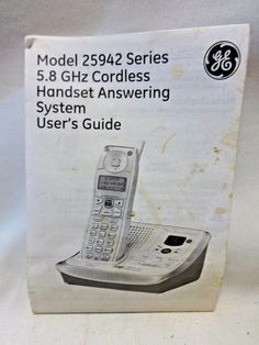 GE 25942 Manual User Guide Cordless Handset Answering System Instruction Booklet…