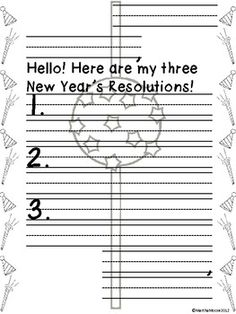 What a better way to talk about the New Year than to let your students make their own New Year's Resolution, or goal!    Student will practice their friendly letter writing skills and will make New Year's resolutions for the coming year. They can write to a friend, parent, or even to themselves! FREE