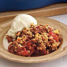 Bake a fruity crisp, cobbler or crumble | Rhubarb-and-Strawberry Crisp | AllYou.com