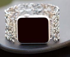 Apple Watch Band Women's Beaded Designer Apple by GirlTechFinds