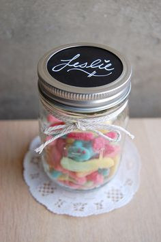 50 Blank Chalkboard Mason Jar Labels, Place Settings, Wedding Chalkboards on Etsy, $12.00