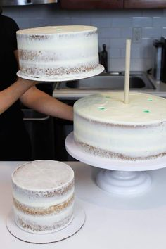Making Your Own Wedding Cake: Should You? - Chelsweets - Making Your Own Wedding Cake: Should You? Make Your Own Wedding Cakes, Wedding Cakes With Cupcakes, Cool Wedding Cakes, Wedding Cake Toppers, Simple Cake Designs, Simply Yummy, Individual Cakes, Cake Delivery, Cake Tutorial