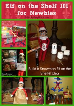 Elf on the Shelf 101 for Newbies - Everything you need to know to get started including tips, a free printable calendar and a free printable supply list.  We are here to help you get started!