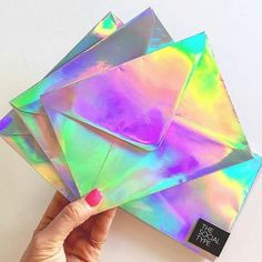 Iridescent and Holographic Textures , Poupées Our Generation, Holographic Fashion, Cute School Supplies, My Favorite Color, Iridescent, Gadgets, Stationery, Crafty, Cool Stuff