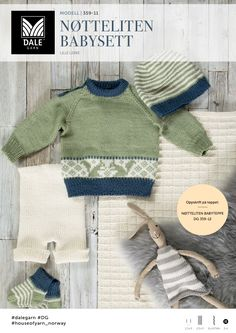 Ravelry: Nøtteliten babysett pattern by Kari Haugen Baby Knitting Patterns, Knitting For Kids, Loom Knitting, Baby Patterns, Free Knitting, Baby Barn, Baby Sweaters, Baby Wearing, Kids And Parenting