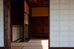 Interior shot of the Katsura imperial Villa, Kyoto, Japan.  Photograph by Urszula Kijek.