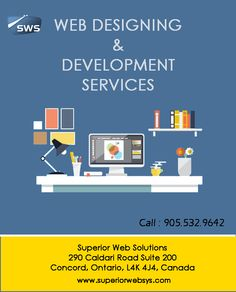 Website Designing & Development Services Call : 905.532.9642 Superior Web Solutions, 290 Caldari Road, Suite 200, Concord,, Toronto, Ontario, L4K 4J4, Canada Visit us at www.superiorwebsys.com