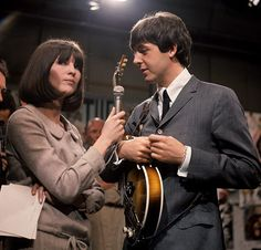 The Beatles appearing on Ready, Steady, Go! on March with presenter Cathy McGowan. The Beatles mimed to It Won't Be Long, You Can't Do That and Can't Buy Me Love, but their performance was. Paul Mccartney, Cathy Mcgowan, The Beatles Live, Beatles Art, Go Tv, Sir Paul, The Fab Four, Saddest Songs, Ringo Starr