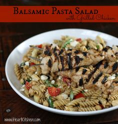 One of my favorite things to make in the spring and summer is pasta salad. It's hearty, quick and so delicious. I usually just whip up a batch of my all time favorite balsamic vinaigrette and then toss in some fresh veggies. My carnivores need their protein so I simply use some of that same…