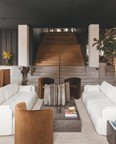 Design brand Menu has teamed up with architecture studio Norm Architects on The Audo, a hotel in Copenhagen where cosy, earth-toned guest suites double up as show spaces for new furniture and homeware. Design Entrée, Deco Design, House Design, Hotel Lobby Design, Design Shop, Showroom Design, Nordic Design, Design Trends, Luxury Home Decor