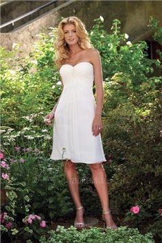 GBP 9941 Satin Sweetheart Strapless Neckline With Short Knee Length Beach Wedding Dress Wh 0045