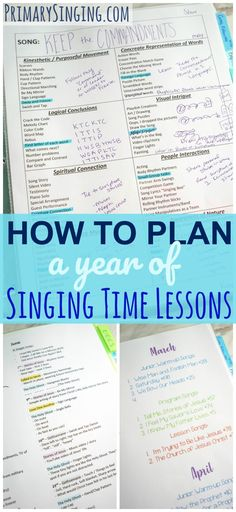 How to Plan a Year of Primary Singing Time Lessons I took the time this week to sit down and plan out all my lesson plans for January through September. I also have down a rough outline for the last quarter of the year, as Primary Songs, Primary Singing Time, Primary Activities, Primary Lessons, Lds Primary, Music Education Activities, Sunday Activities, Education Center, Primary Education