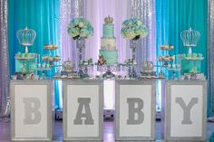 bling shiny silver dessert stands opulent treasures baby shower.jpg