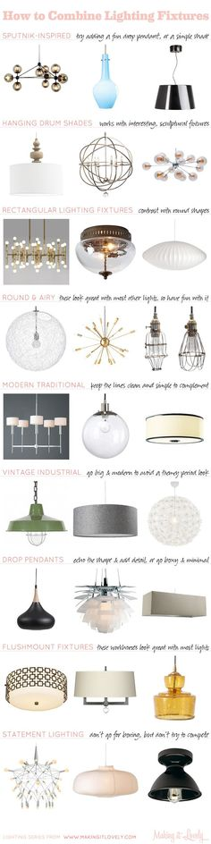 how to combine lighting fixtures