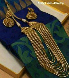 .... Kerala Jewellery, Pakistani Jewelry, Indian Jewelry, Traditional Indian Jewellery, Chevron Necklace, Gold Jewelry Simple, Lahenga, Gold Set, Jewelry Patterns
