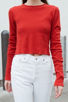 891a1027 Brandy Melville Usa, Thermal Top, Graphic Tees, Men Sweater, Crew Neck,