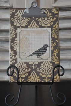 Weathered Wood Embellished Frame with Stand by FrameMyStory, $25.00