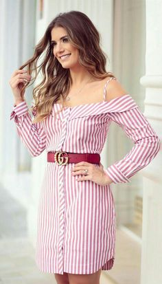 Style Ways to Wear a Casual Shirt Dress the shirt dress looks perfect on its own Cute Dresses, Casual Dresses, Casual Outfits, Summer Dresses, The Dress, Dress Skirt, Shirt Dress, Dress Outfits, Cool Outfits