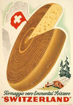Emmental Suisse Cheese Label Art