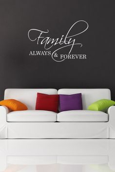 Decals That Dazzle - Family Always & Forever Wall Decal $15.00