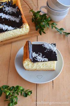 Puszysty sernik śmietankowy My Dessert, Dessert Bread, Sweet Pastries, Dream Cake, Cupcake Cookies, Melting Chocolate, Yummy Cakes, Cheesecake, Deserts